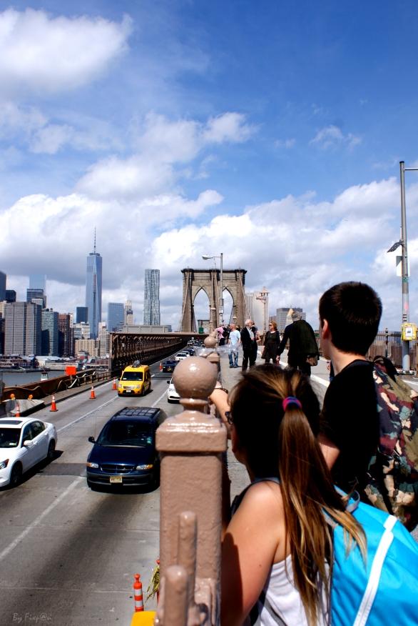 Début du Brooklyn Bridge, nous sommes en admiration !